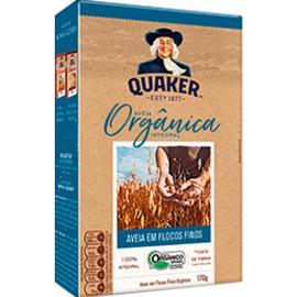 Aveia orgânica integral flocos finos Quaker 170g