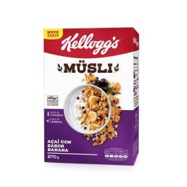 Cereal Kellogg's Musli Açaí com Banana 270g