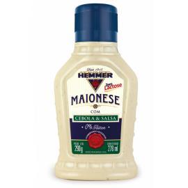 Maionese Hemmer c/ Cebola e Salsa Zero Lactose 290g
