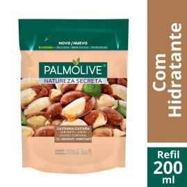 Sabonete Líquido Palmolive Natureza Secreta Castanha refil 200ml