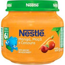 Papinha manga, maçã e cenoura Nestlé 120g