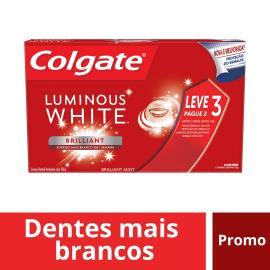 Creme Dental luminous white Colgate Leve 3 Pague 2