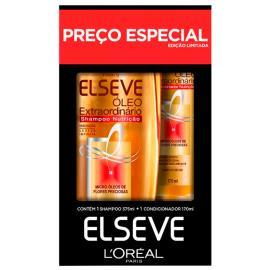 Shampoo 375ml + Condicionador 170ml preço especial óleo extraordinário Elseve unidade