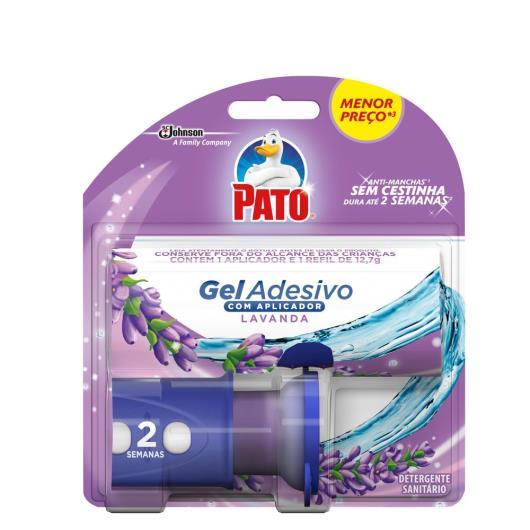 Detergente sanitário gel adesivo lavanda aplicador+refil Pato un - Imagem em destaque