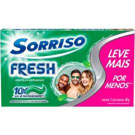 Gel dental fresh 3 unidades de 90g - Sorriso 270g