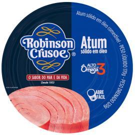 Atum sólido em óleo Robinson Crusoe lata 170g
