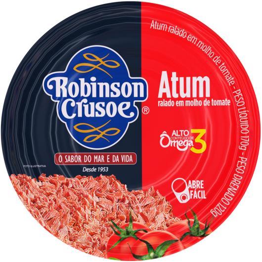 Atum ralado em molho de tomate Robinson Crusoe lata 170g - Imagem em destaque