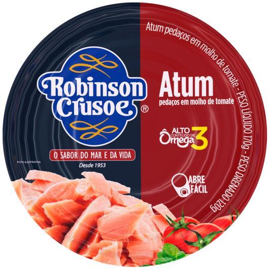 Atum em pedacçs molho tomate Robison Crusoe 170g - Imagem em destaque