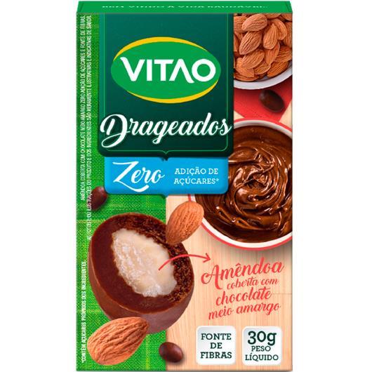 Amêndoa coberta com chocolate meio amargo zero açúcar Vitao 30g - Imagem em destaque