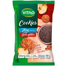 Cookies zero açúcar sem glúten maçã e canela + grãos ancestrais Vitao 80g