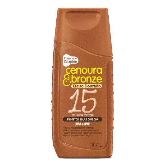 Protetor solar com cor FPS15 Cenoura&bronze 110ml - Imagem em destaque
