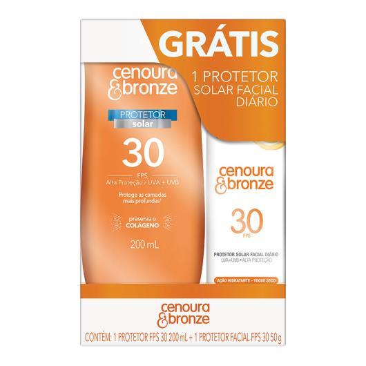 Protetor solar FPS30 grátis protetor facial FPS30 50g Cenoura&bronze unidade - Imagem em destaque
