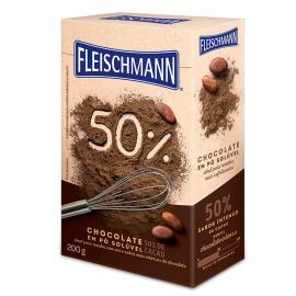 Chocolate pó Solúvel 50% Cacau Fleischmann 200g