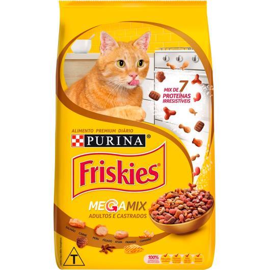 Alimento para Gatos adultos e castrados Megamix Friskies 1kg - Imagem em destaque