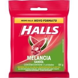 Bala HALLS Melancia (3 Unidades) 84g