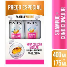 Shampoo 400ml + Condicionador 175ml Pantene Micelar Preço Especial