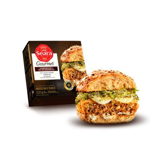 Hambúrguer Seara Mix de Cogumelos Gourmet 320g - Imagem em destaque