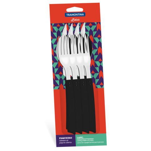 Faqueiro brisa preto Tramontina 12 peças - Imagem em destaque