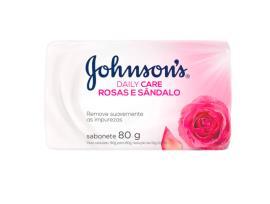 Sabonete barra rosas e sândalo Johnsons 80g