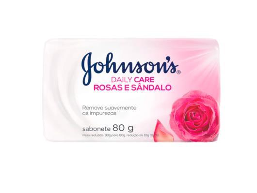 Sabonete barra rosas e sândalo Johnsons 80g - Imagem em destaque