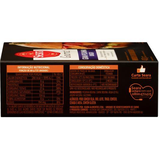 Hambúrguer Seara Gourmet Picanha 400g - Imagem em destaque