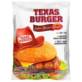 Hambúrguer Seara Texas Burguer Bacon 75g