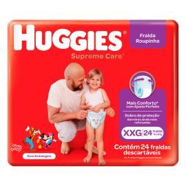 Fralda Descartável Huggies Supreme Care XXG 24 Unidades