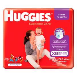 Fralda Descartável Huggies Roupinha Supreme Care XG 24 Unidades
