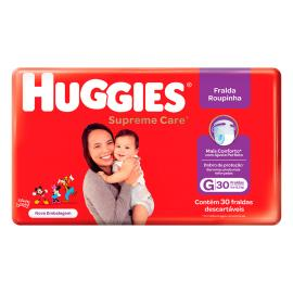 Fralda Huggies Roupinha Supreme Care G 30 Unidades