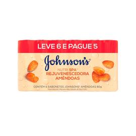 Sabonete Johnson's Rejuvenescedora/Amêndoas Leve 6 Pague 5 480g