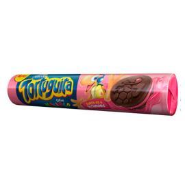 Biscoito chocolate recheado com morango Tortuguita Arcor 90g