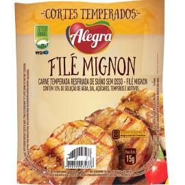 Filé Mignon suíno temperado Alegra 1,1kg
