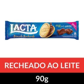 Biscoito LACTA Recheado Ao Leite 90g