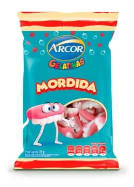 Bala gelatinas mordida Arcor 70g