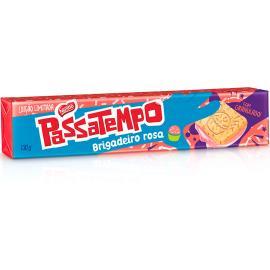 Biscoito Passatempo recheado brigadeiro Rosa 130g