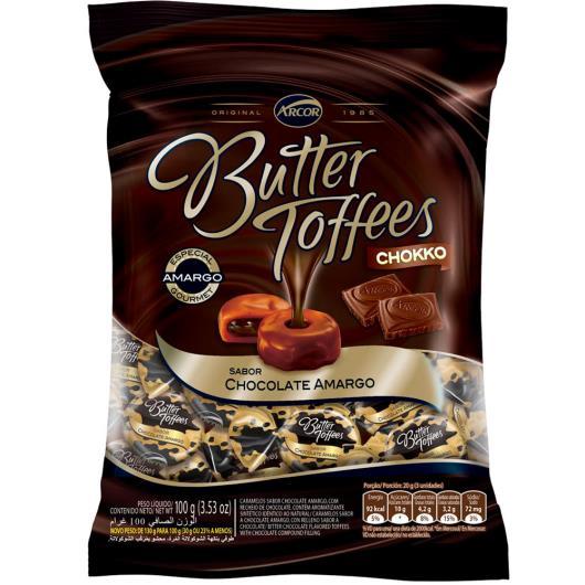 Bala Butter Toffees Chokko chocolate Amargo 100 g - Imagem em destaque
