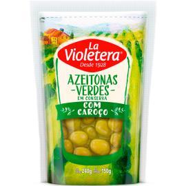 Azeitona La Violetera Verde com Caroço 150g