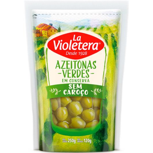 Azeitona La Violetera Verde sem Caroço 120g - Imagem em destaque