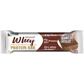 Barra de Proteína Montevérgine Nougat Whey Brownie de Chocolate 40g