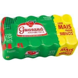 Refrigerante Guaraná Antarctica Lata Leve + Pague - 18 unidades de 350ml cada