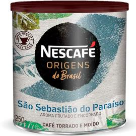 Café torrado e moído São Sebastião do Paraíso Origens Nescafé lata 250g