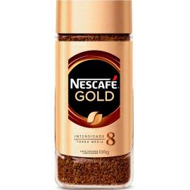 Café Torrado médio Gold Nescafé vidro 100g