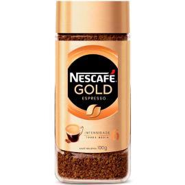 Café torrado espresso Gold Nescafé vidro 100g