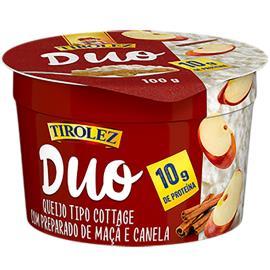 Queijo Tirolez Duo Cottage com Maça e Canela 100g