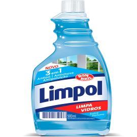 Limpa Vidros Limpol 3 em 1 Refil 500ml