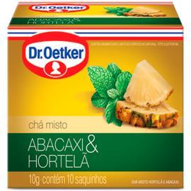 Chá abacaxi e hortelã Oetker sachês 10g