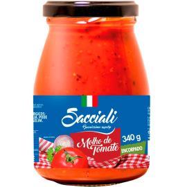 Molho de tomate encorpado Sacciali vidro 340g