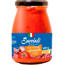 Molho de tomate arrabiata Sacciali vidro 340g