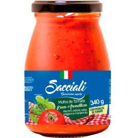 Molho de tomate ervas aromáticas Sacciali vidro 340g
