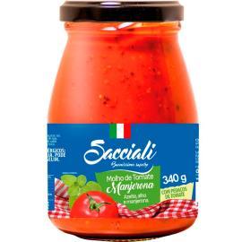Molho tomate manjerona Sacciali vidro 340g